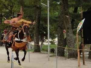 Archery on Horseback at Annual Autumn Festival