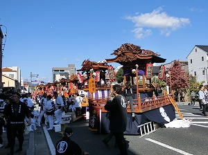 Parade Floats, Danjiri, in Tsuyama Festival