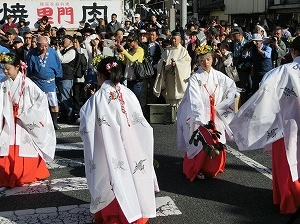 Shrine Maidens' Dance at Tsuyama Festival