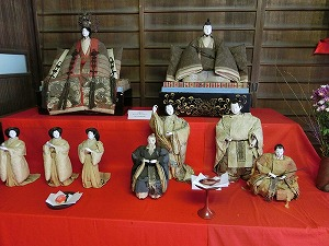 Traditional Hina Dolls Displayed at Festival in Ushimado