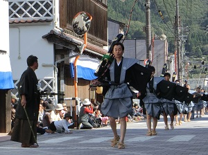 Samurai-Dress Procession in Niimi Dogeza Festival
