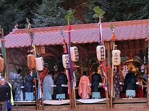 Shrine Priests Praying during Kamo Grand Festival