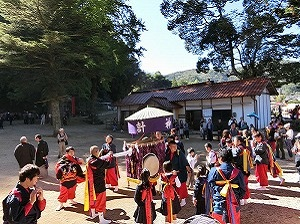 Performers Playing Japanese Music at Festival