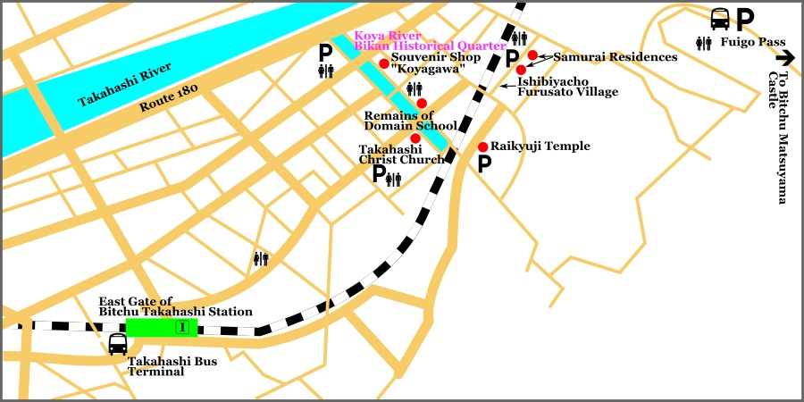 Sightseeing Map of Downtown Takahashi