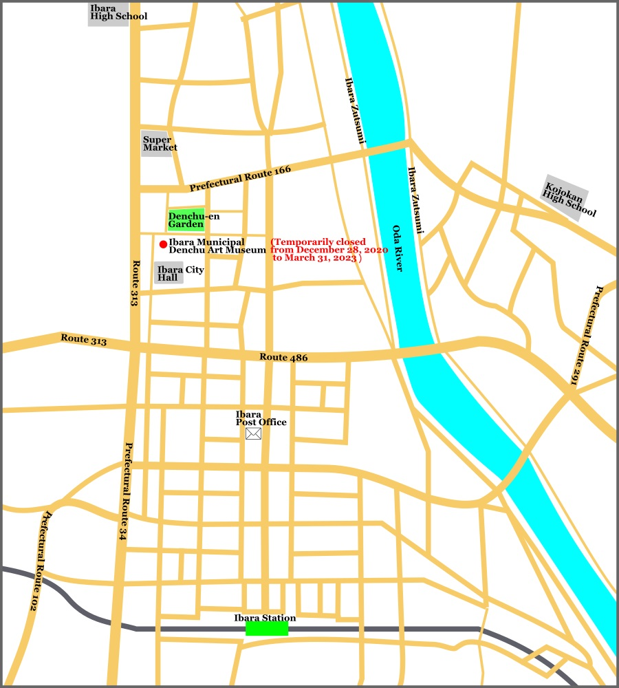 Sightseeing Map of Downtown Ibara